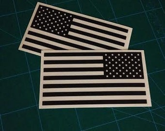 American Flag Decal Set (Left & Right) Die-Cut