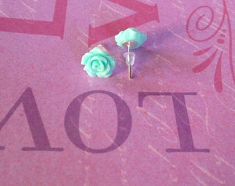 12mm Rose Cabochon Earrings