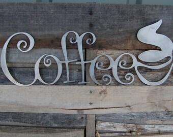 Metal Coffee Sign, Coffee Shop Sign, Coffee Mug Sign, Coffee Decor, Outdoor Wall Art, Kitchen Decor, Coffee Decor, Metal Sign, Indoor, S1024