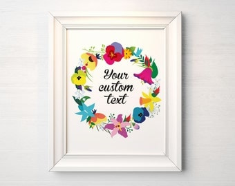 Custom Poster - Floral - Personalized Wall Decor, Home Decor