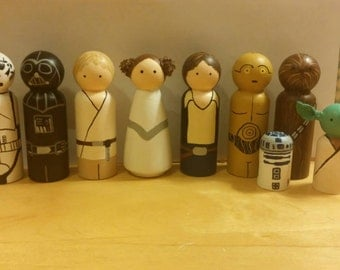 Star Wars Peg Doll Set
