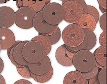 Matte Bronze Flat Sequins 6mm - JR01430