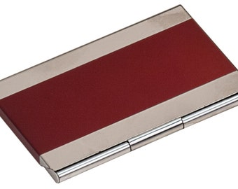 Personalized Business Card Case, Stainless Steel, Laser Engraved.
