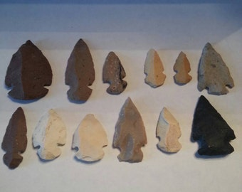 Lot of 12 Reproduction Arrowheads
