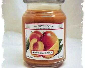 Mango Peach Salsa Paraffin Container Candle