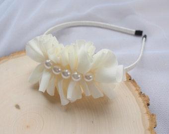 Pearl Flower Girl Hairband - Ivory - Wedding Hairband - Headband