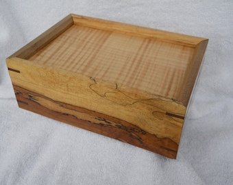 8x6x3 spalted maple keepsake box