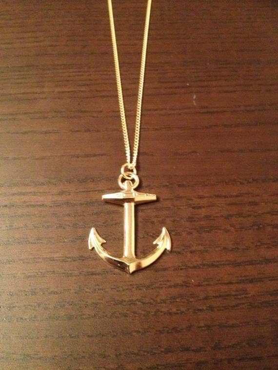 Sail off into the sunset in style. One of our anchor necklace pendants is a great way to embrace the look of nautical jewelry in a chic and stylish way. Our solitaire crystal anchor pendant is bold and fashionable. Our anchor necklace features a detailed.