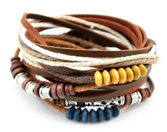 axy wrap bracelet TWIC13-6! Leather Bracelet