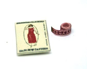 Red Flapper Dress Packet Dolls House Miniature