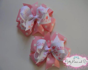 Big & Lil' Sister Hair Bows, Big Sister Hair Bow, Little Sister Hair Bow, Sister Bows