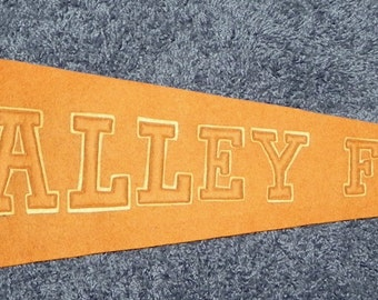 Circa 1910 Valley Forge Pennsylvania Antique Sewn Letter Pennant