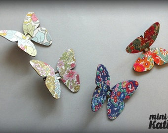 mini Katie Liberty London single Butterfly Hair Barrette, Hair Clip for baby girls Toddlers Infants