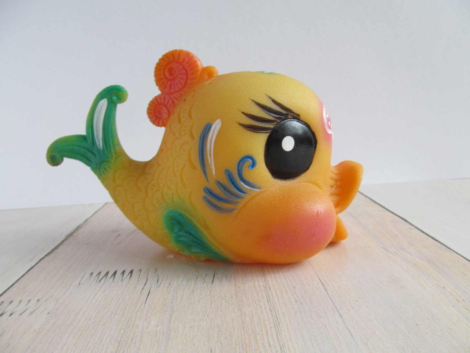Rubber toy fish made ussr soviet rubber toy by omaomaopaopa for Rubber fish toy