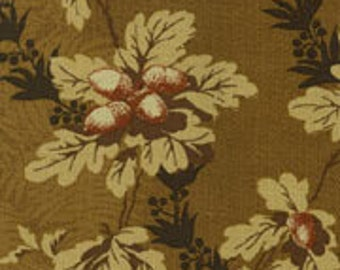 Thimbleberries - Autumn Traditions Brown Leaves and Acorns Fabric