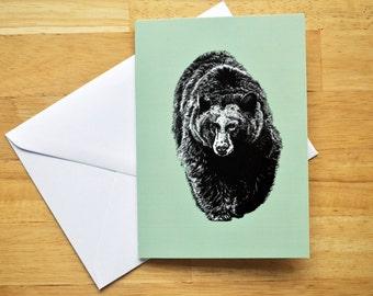 Black Bear Greetings Card