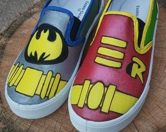 Handpainted ADULT Superhero Shoes
