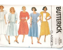 Butterick pullover dress pattern 3222  Misses Sizes 8-10-12   Vintage printed 1985  Never used