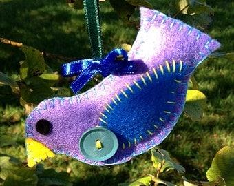 Handmade Felt Birdie Ornament (Easter/Christmas)