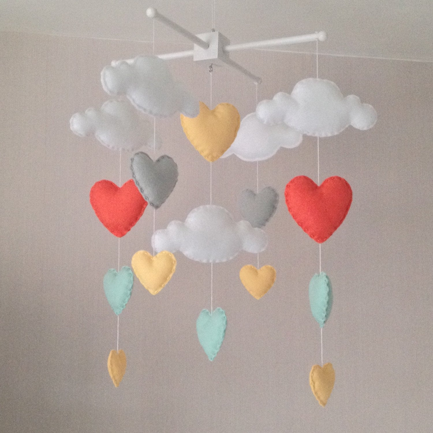 baby mobile cot mobile clouds and hearts cloud mobile - 🔎zoom