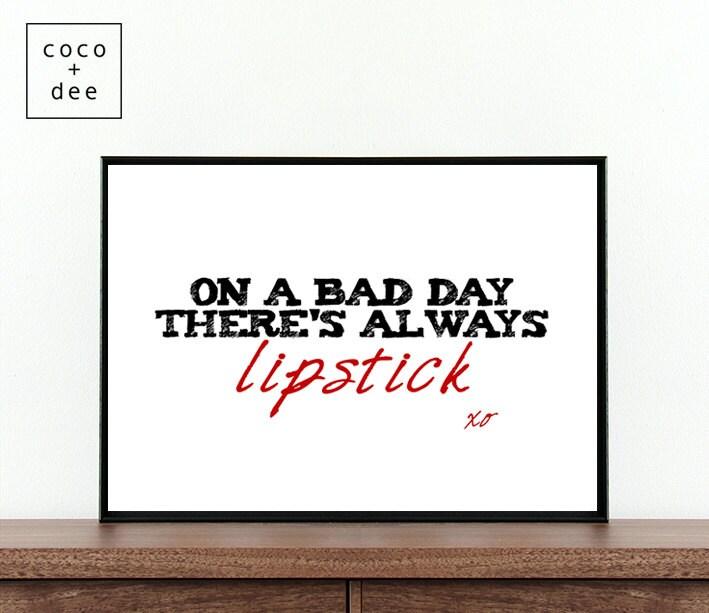 Populaire Sur toujours rouge à lèvres un mauvais jour il y a citation IL49