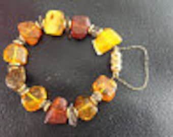 """Small Amber Bracelet 6 1/2"""""""