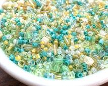 25g Seafoam Toho Beads, Glass Seed Beads, Seafoam, Assorted Japanese Toho Beads Mix (TOH-06)
