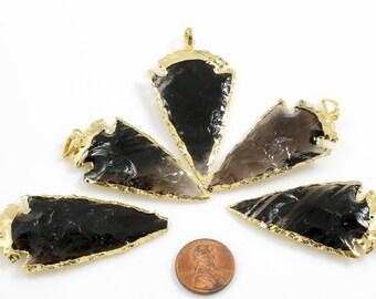 ARROWHEAD Gold Wrapped Smokey Quartz