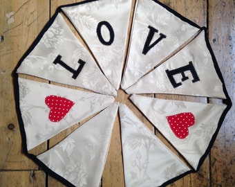 Love bunting, perfect for weddings or valentines