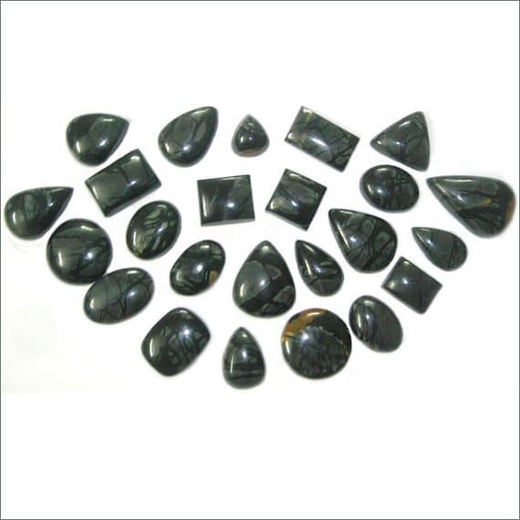 cab black onyx semi precious gemstone mix by naturalgemsnbeads