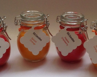 Lovely Christmas scented candles. Our customers love these jars, we're sure you will too! 2 options available