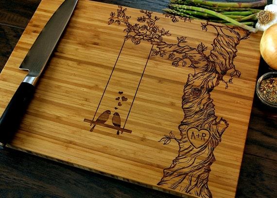 Wedding Gift Cutting Board: Personalized Cutting Board Wedding Gift Custom Engraved