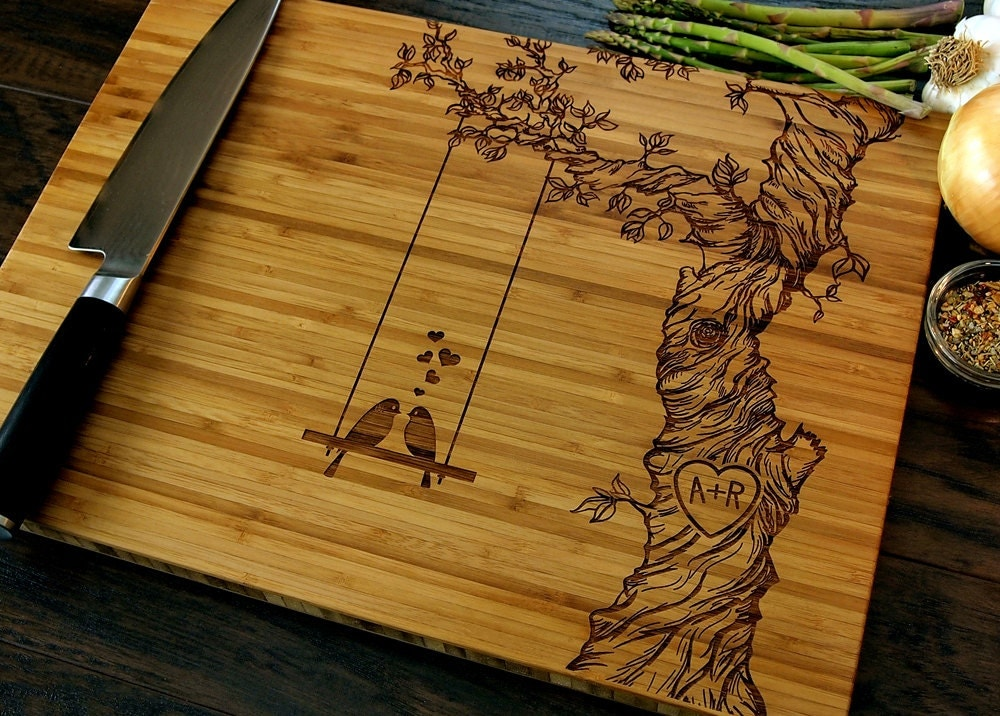 Engraving Wedding Gifts: Personalized Cutting Board Wedding Gift Custom Engraved