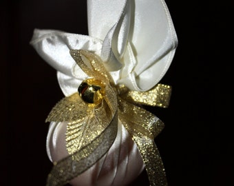 Christmas Ornament.Toy on the Christmas tree, Christmas decorations, New Year 2018. Gold Christmas ornament