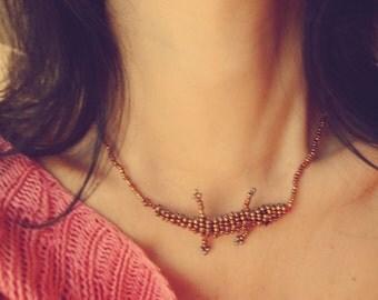 Beaded crocodile necklace - 2