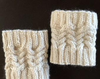 Knitted Cable Boot Cuffs