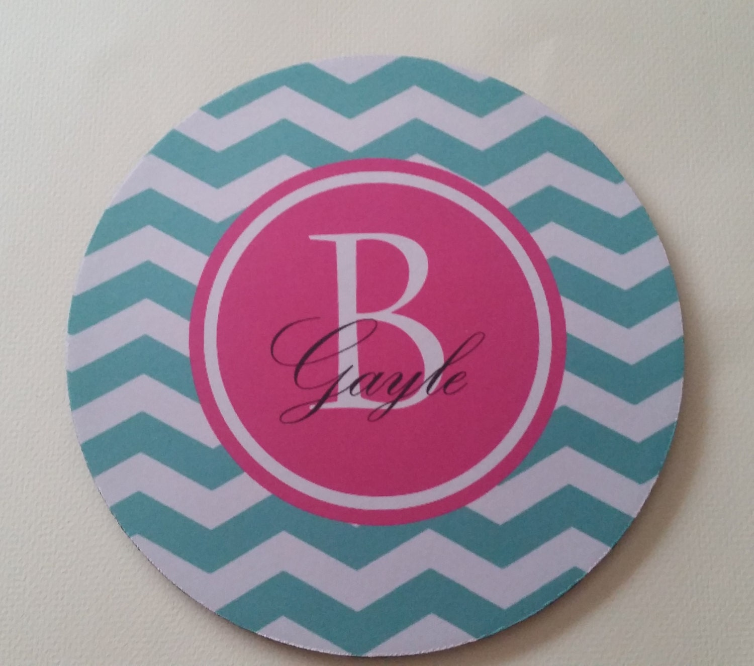 monogrammed mouse pad personalized