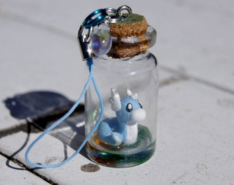 Dratini in a Bottle Pokemon Necklace or Charm