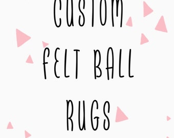 Custom Felt Ball Rug-50% of profit going to charity
