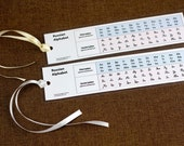 Russian Alphabet Bookmark Handwriting and Print Free Shipping