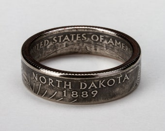 North Dakota State Quarter Ring