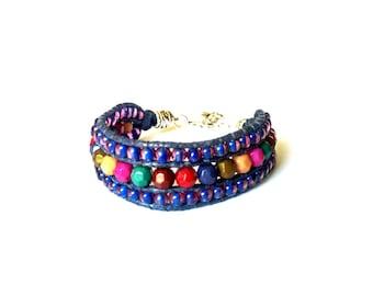 Ethnic leather bracelet