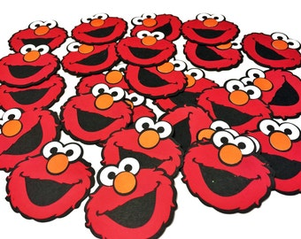 "Elmo Die Cuts - 2"" Elmo Cut Outs-Elmo - Set of 25 Elmo Cut Outs - Sesame Street Decorations - Scrapbooking - Elmo Birthday - Elmo Party"