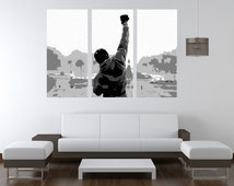Rocky Balboa - Hand Painted European Canvas Acrylic Pop Art Oil Painting LARGE FRAMED Gallery Wrapped Wall Art