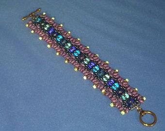 Hand Woven 6 X 1 inch Beaded Bracelet