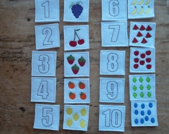Felt Counting Fruit and Numbers : Great for little one's learning their numbers and counting. Helps to make learning fun.