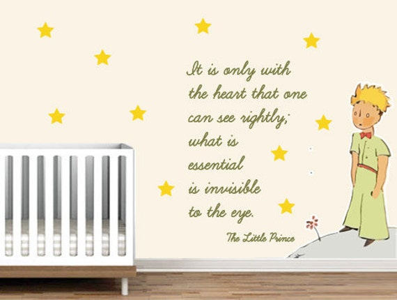 Little prince sticker little prince decal le by Decoration le petit prince
