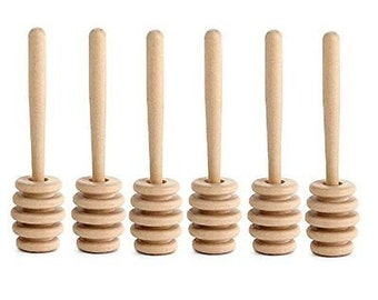 4 Inch (10cm) Wood Honey Dipper - Ready to Ship - Wholesale