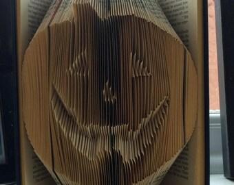 """Book folding Pattern for a """"Halloween pumpkin"""""""