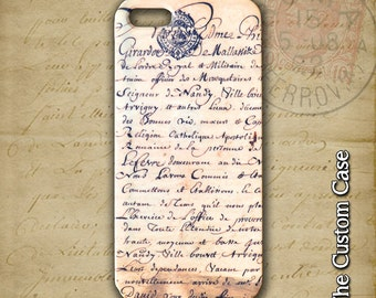 Vintage Paper Iphone Case, Vintage French Letter Iphone Case, Iphone 4/5/5c/6/6+, Samsung Galaxy S3/S4/S5/S6/S6 Edge